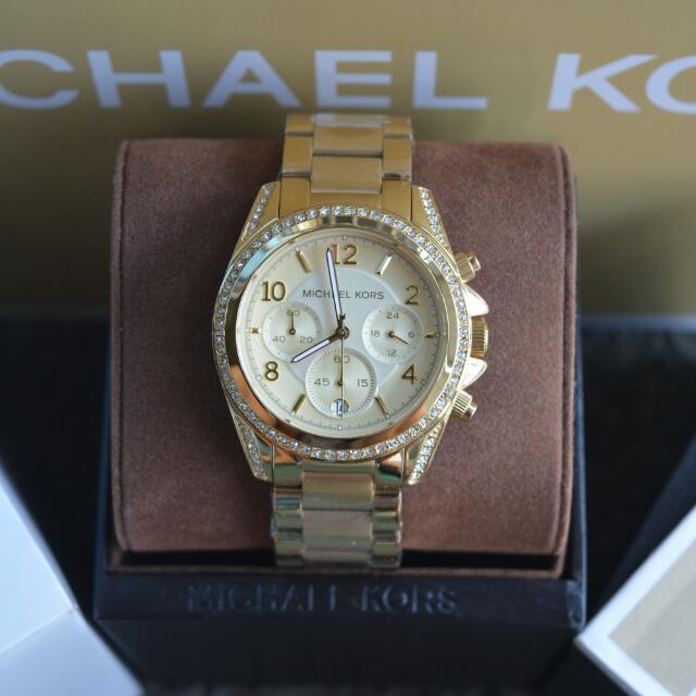 Michael Kors Ladies Blair Gold-Tone Watch (MK5166)