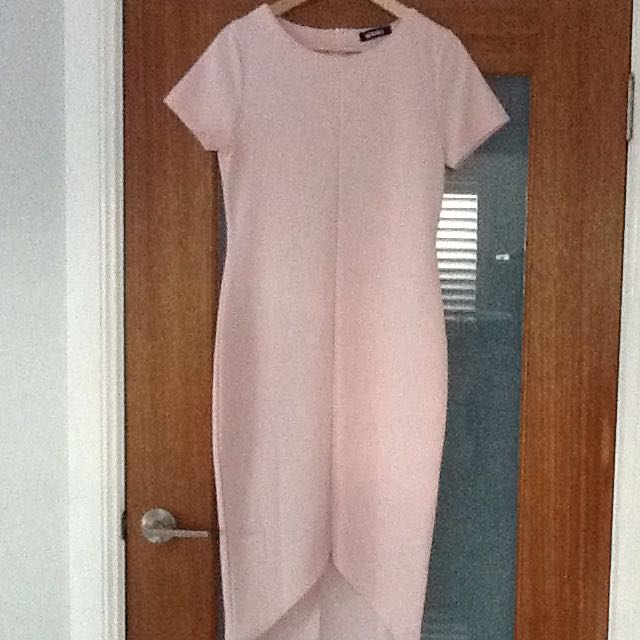 **Price Reduced** Missguided Pink Ribbed Bodycon Midi Dress
