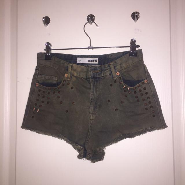 Moto Denim Shorts (topshop)