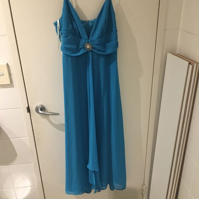Mr K Floor Length Formal Gown (sky blue) M Size 12