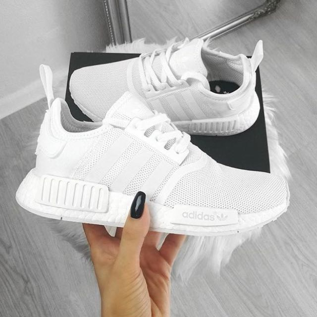 NEW  Adidas NMD R1 Triple White For Men s   Women s 0bf3b9572