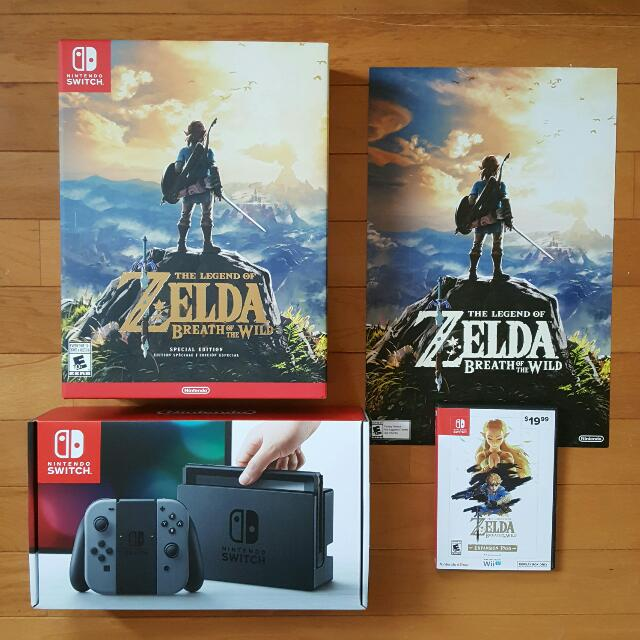 Nintendo Switch W Legend Of Zelda Special Edition Expansion Pass On Carousell