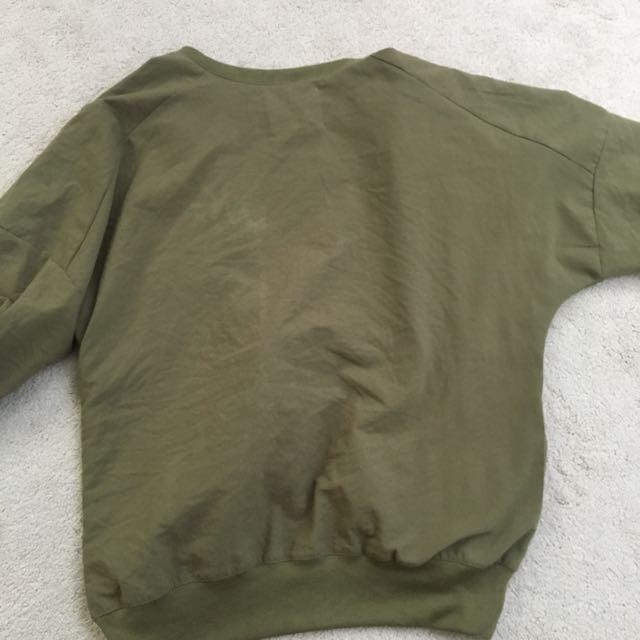 Oak & Fort Green Bomber , Quarter Length Sleeve