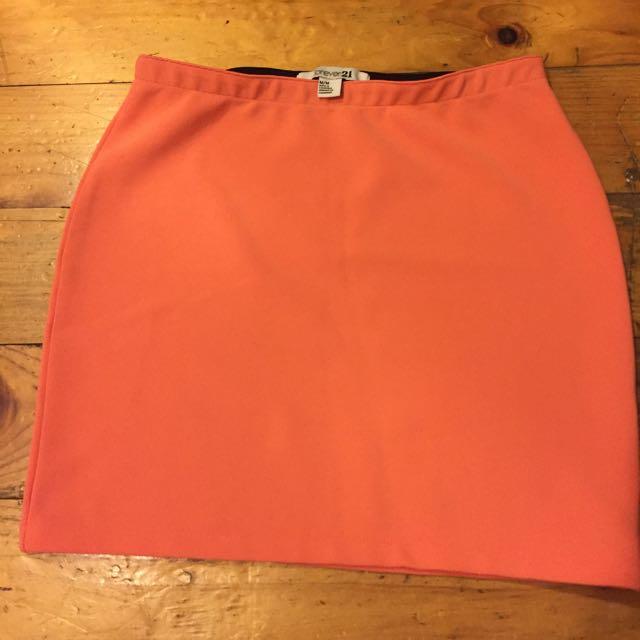 Orange Forever 21 Skirt