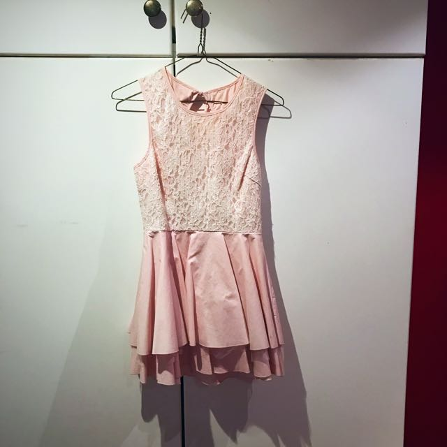 Pink/ White Dress Size 8