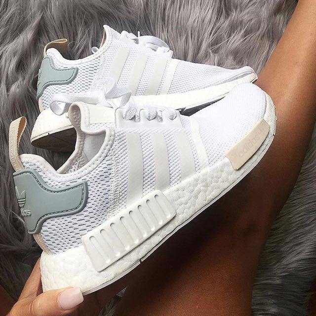 POPULAR  Adidas NMD R1 W Vintage White   Pastel Green   Nude ... 7bc836c05