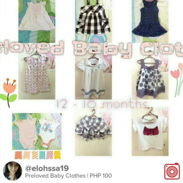 Preloved Baby Clothes Here! Get 2 items, P10 discount. Get 4 items, P20 discount