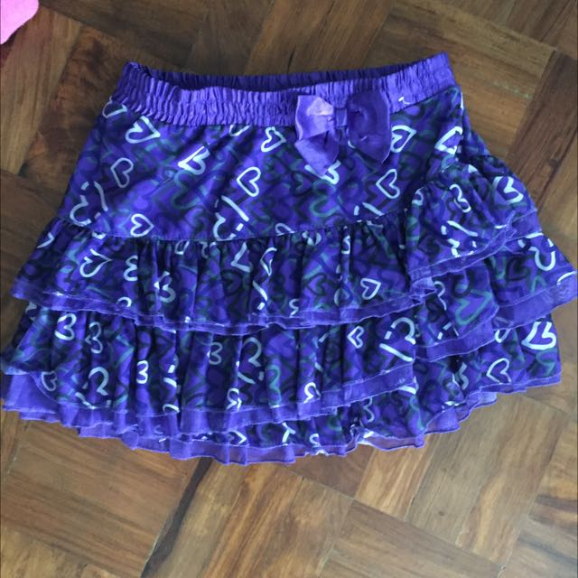 Printed Purple Skirt From US Size 10