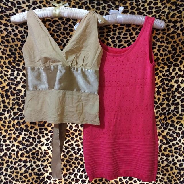 Proloved Pink Dress & Cream Top