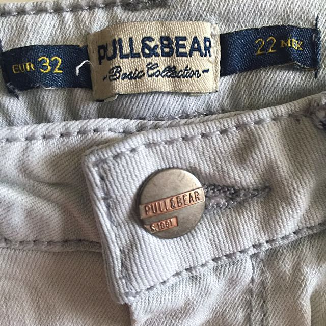 Pull & Bear Light Wash Denim Skinny Pants
