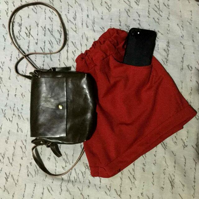 Red Tiangge Shorts
