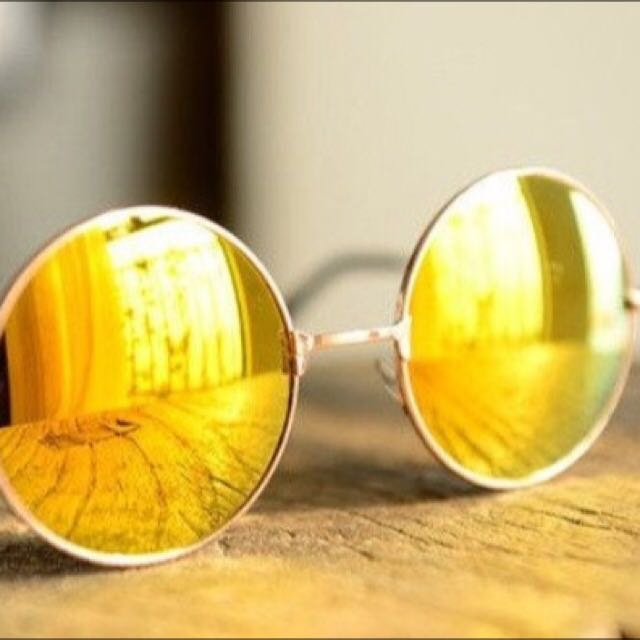 REPRICED!!!!! Mirrored Lens Sunnies (yellow)
