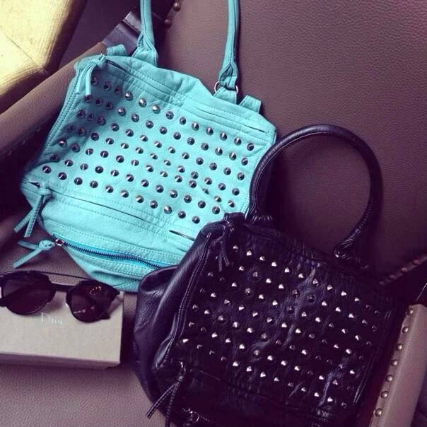 Rivet One-Strap Soft Bag - Turquoise