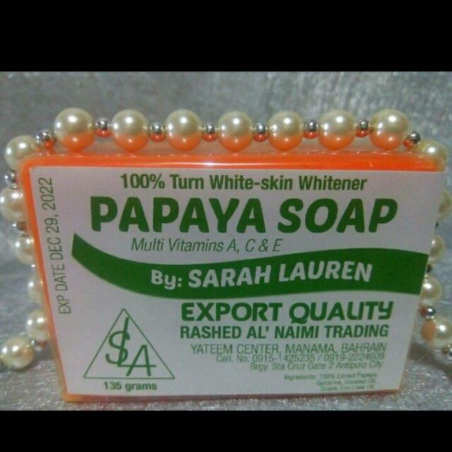 Sarah lauren papaya soap 135g