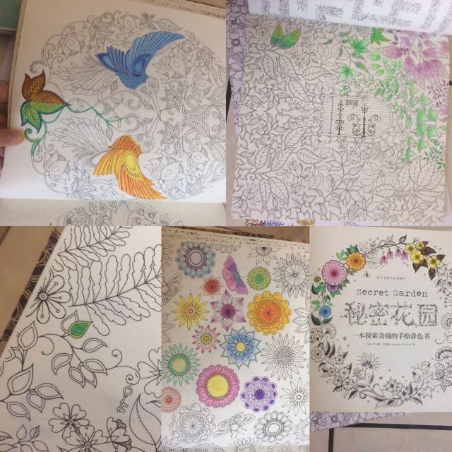 Secret Garden Coloring Book Desain Kerajinan Tangan Lainnya Di Carousell