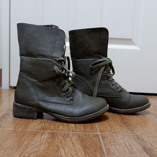 S&H Army Green Boots