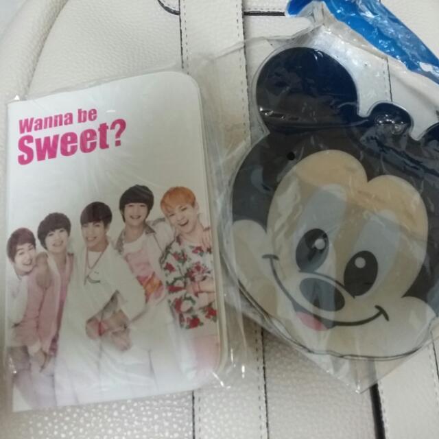 Shinee 護照套+米奇零錢包