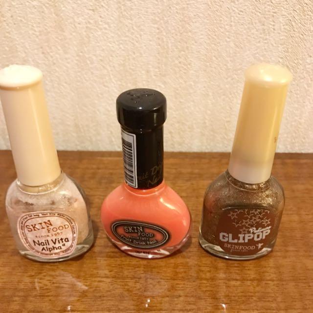 (Price For Three)Skinfood Trio Nail Polish