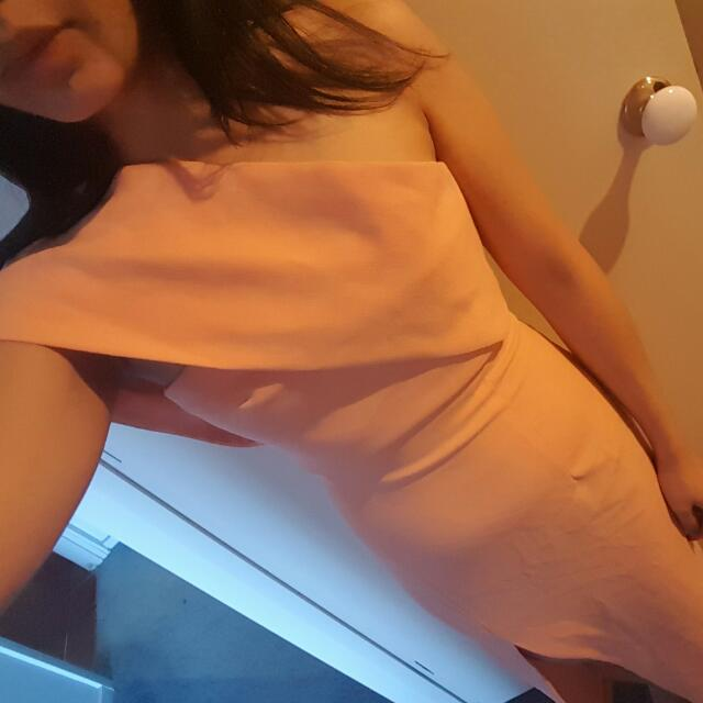 Solace London Peach Dress - Size 6
