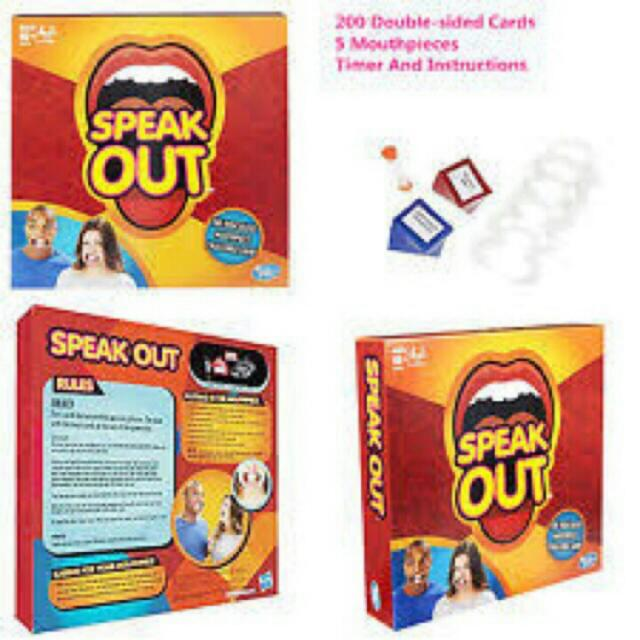 SPEAK OUT AND WATCH YA MOUTH- FAMILY BONDING GAME