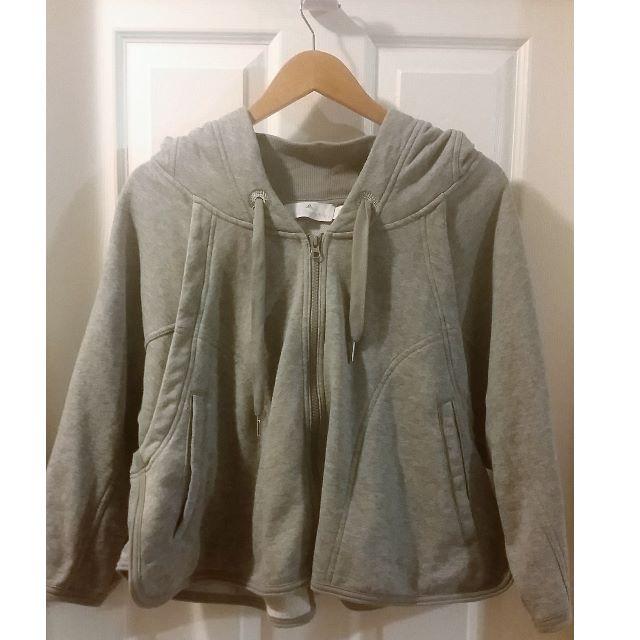 Stella McCartney for Adidas Grey Zip Up Hoodie Sweatshirt Size S