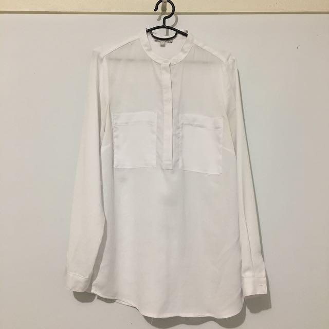 Target White Chiffon Shirt