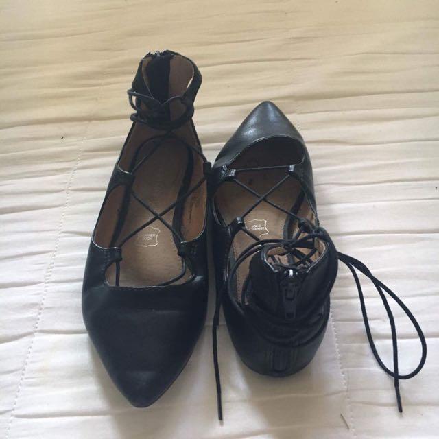 Tie Up Ballet Flats