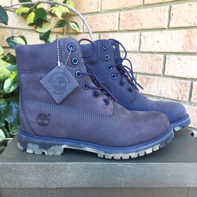 Timberland Grey/Blue Boots US 7