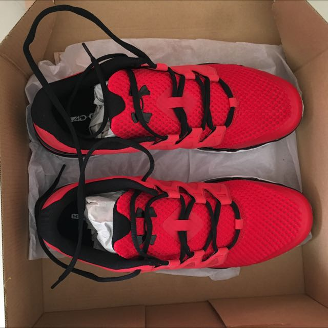 Under Armour Basketball Shoes Red size 12USA