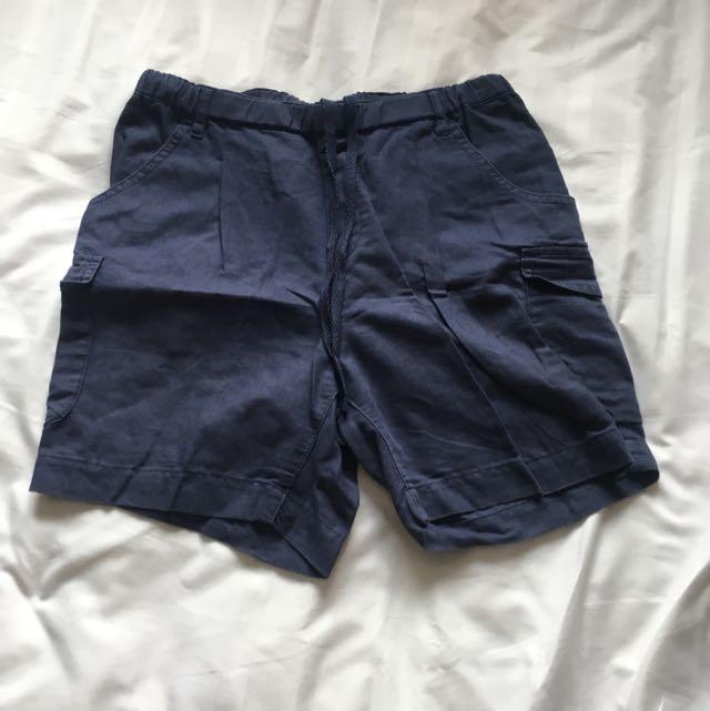 Uniqlo Japan Cotton Shorts - Navy Blue