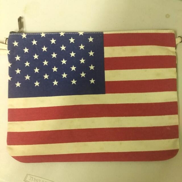 US Flag Canvas Bag