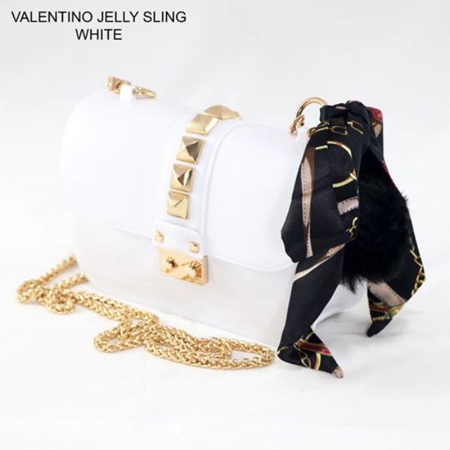 Valentino Jelly Sling (White)