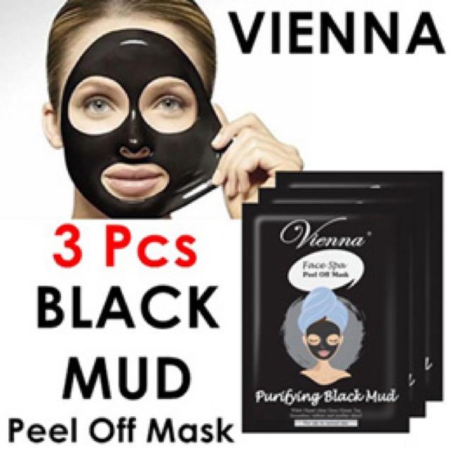 vienna black mud mask peel off face mask
