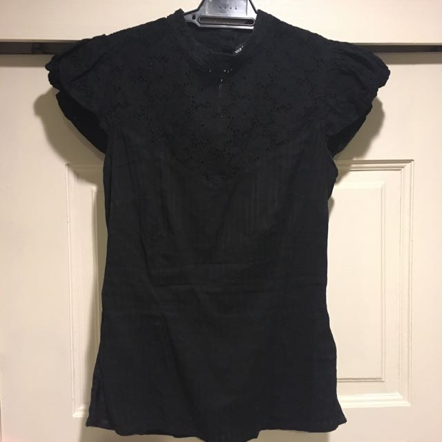 Warehouse Black Oriental Top