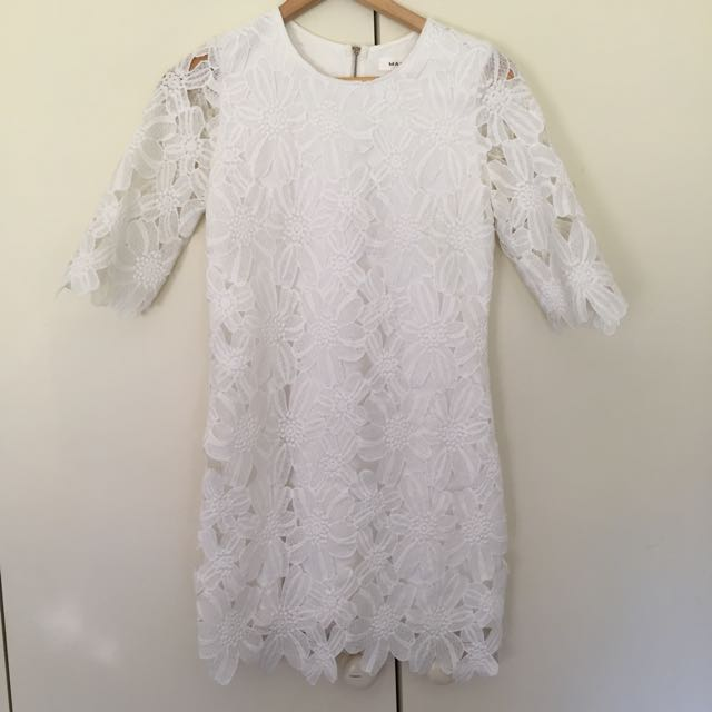 White Floral Dress Sz S