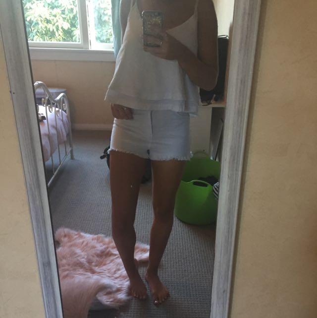 White Super Denim Shorts