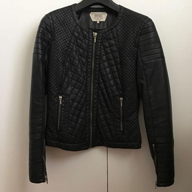 Zara Trafaluc Black Leather Jacket