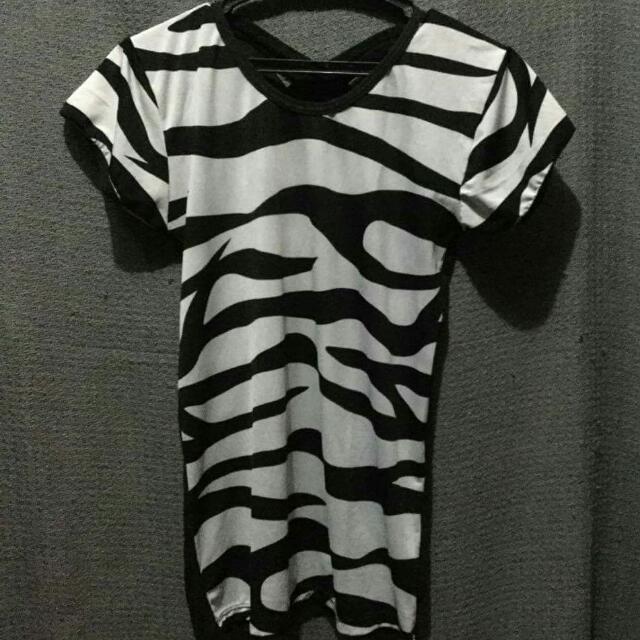 Zebra-printed Top