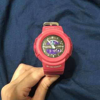 G-SHOCK 桃粉色電子錶