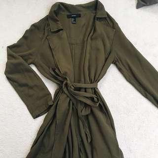 Green Light Trench Coat