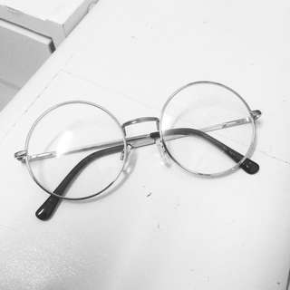Hnm silver round glasses