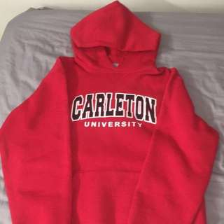 Red Carleton University Sweater