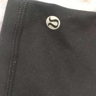 Plain Black Lululemon Shorts