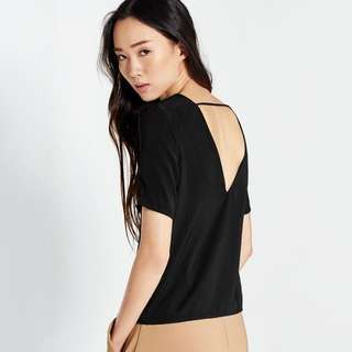 Pomelo Studio Mabel Back Cut Out Tee - Black