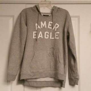 American Eagle Grey Hoodie Hooded Pullover Sweatshirt