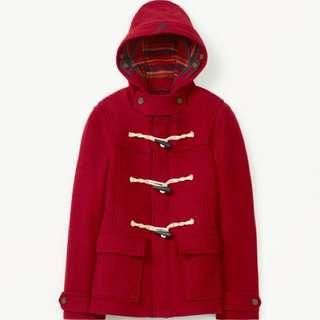 Aritzia Red Duffle Wool Coat (XXS)