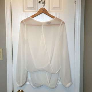 TOPSHOP DRAPED BLOUSE SIZE 6