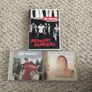 2 One Direction Albums And Katy Perry Album