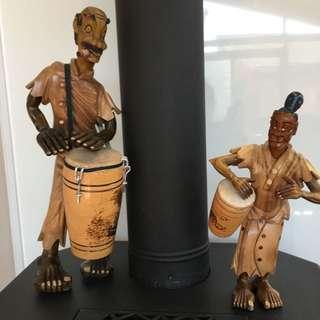 Solid Wood Caribbean Figures