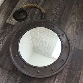 Nautical Hanging Wall Mirror
